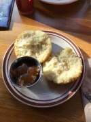 Biscuit with local apple butter